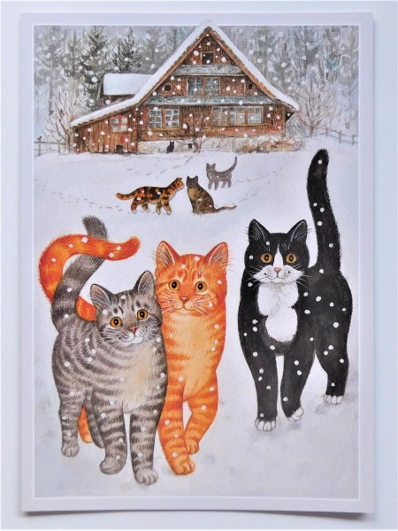 GB Große Klappkarte 3 Katzen