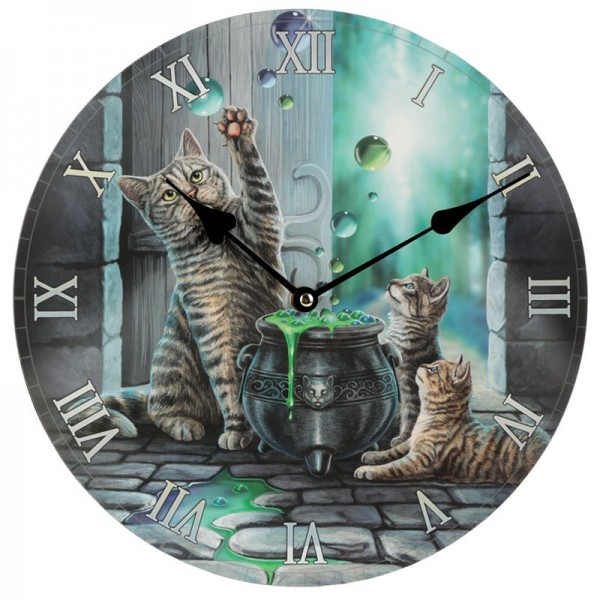 Picture Clock Hubble Bubble Cat and Kitten