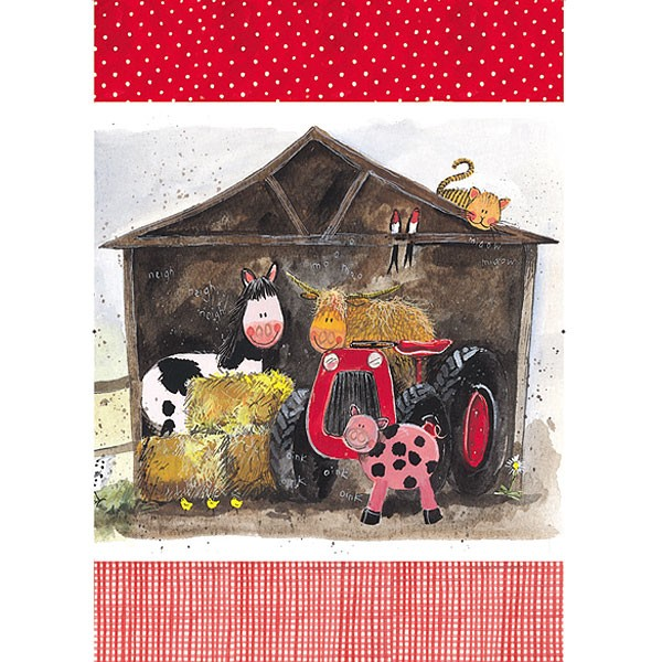Tea Towel Farmyard Tractor