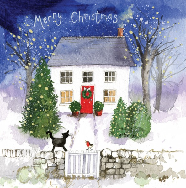 Christmas Card Cottage, pack of 5