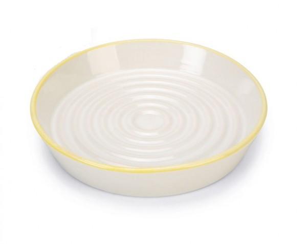 BZ Ceramic Food Bowl yellow rim