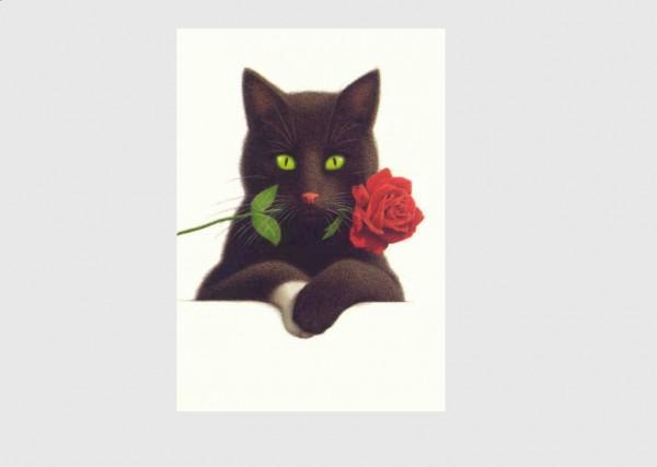 Postkarte Rosen Nero