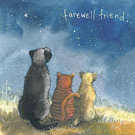Klappkarte Kondolenzkarte Farewell Friend