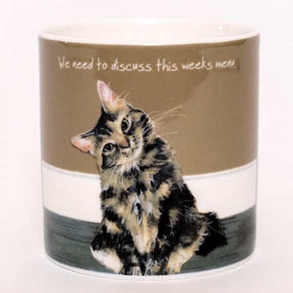 TLDL Designer Kaffee-/Teebecher Tabby Cat