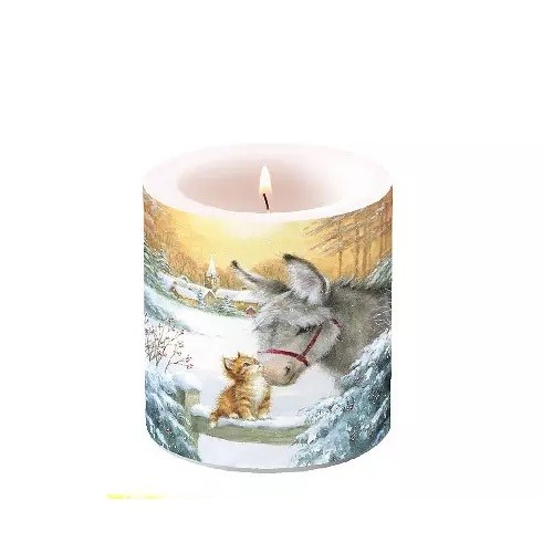 Candle Donkey and Kitten, 9 cm