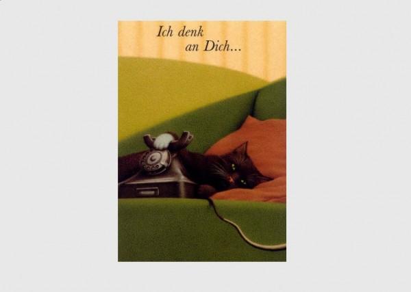 Postkarte Ich denk an Dich