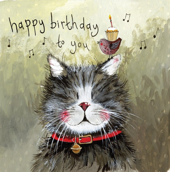 Klaus Cat Birthday Card