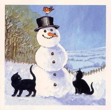 Weihnachtskarte quadr. The Snowmann