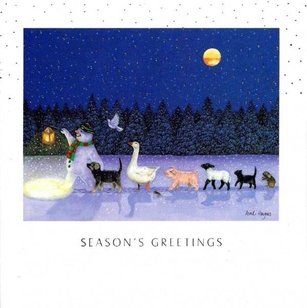 Weihnachtskarte quadr., Moonlit Parade