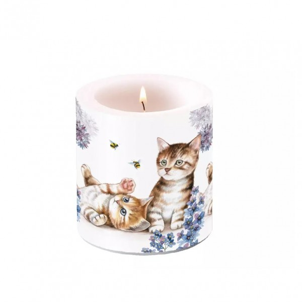 Candle Cats and Bees, 9 cm