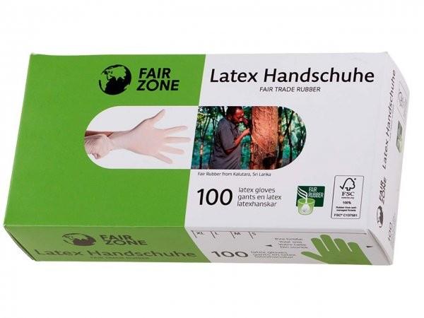 Fair Zone Latex Einmalhandschuhe Gr. M, 100 Stck.