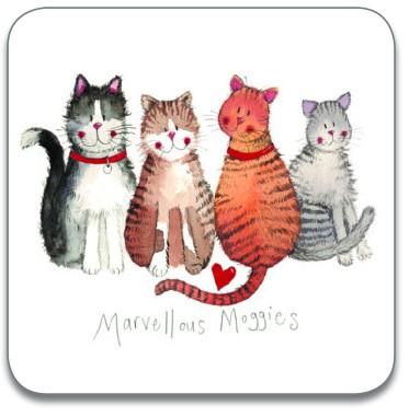 Marvellous Moggies Coaster