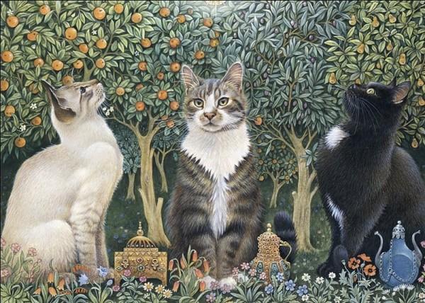 Künstler Klappkarte We Three Kings