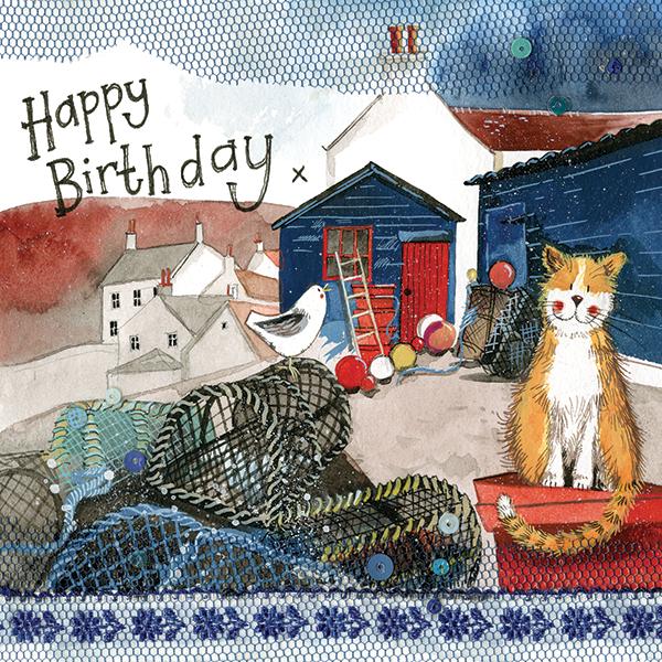 Harbour Cat Birthday Card