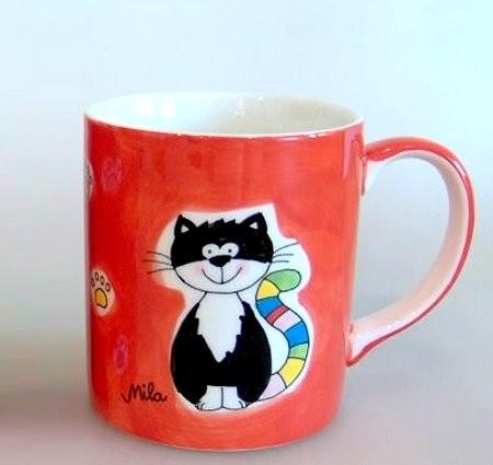 Kaffeebacher Happy Cat