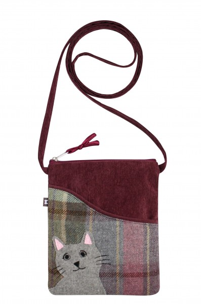 Tweed Cat Sling Bag Fair Trade