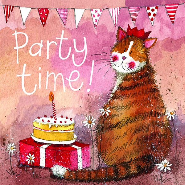 Party Hat Cat Birthday Card