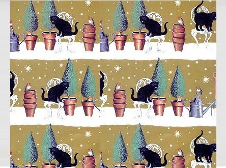 Geschenkpapier Snow Garden, 1 Bogen und Karte