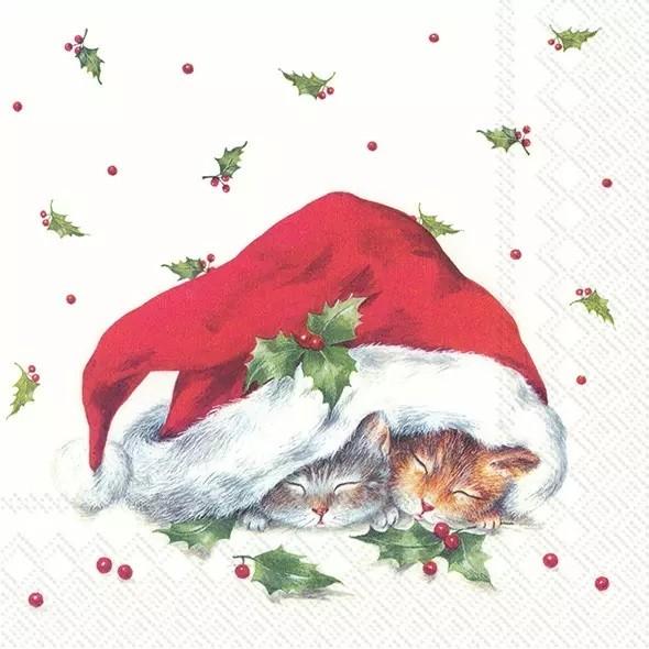 Servietten Sweet Christmas Cats