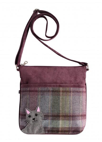 Tweed Cat Messenger Amelia Bag Fair Trade