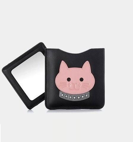 Kosmetikspiegel braun/rosa