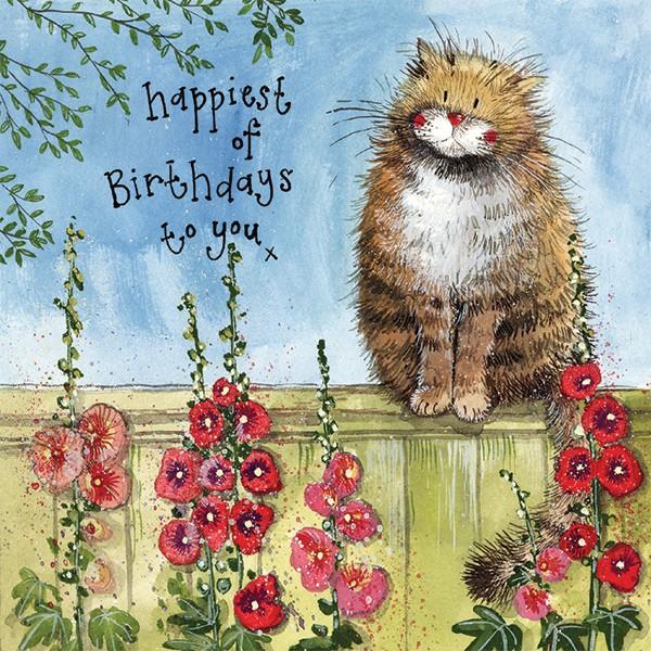 Garden Fence Birthday Card