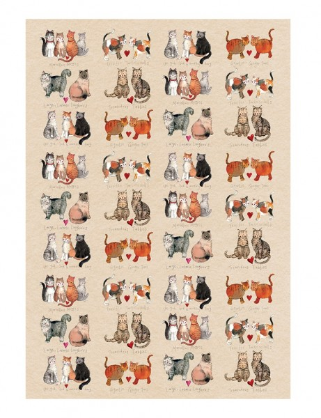 Tea Towel Marvellous Moggies