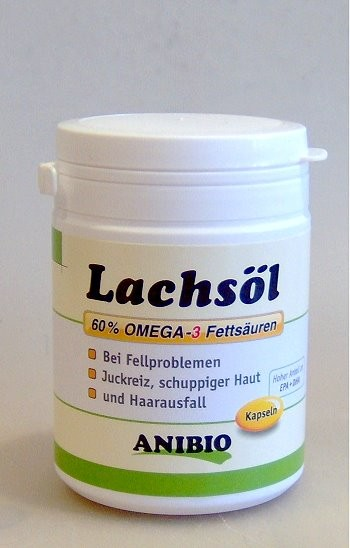 Anibio Lachsöl Kapseln, 180 Stck.