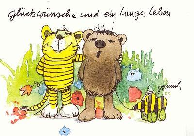 Janosch Postkarte Langes Leben