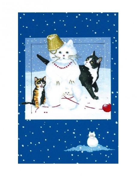 Tatzenladen Weihnachtskarte Klappkarte