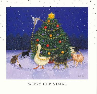 Weihnachtskarte quadr. Christmas Tree
