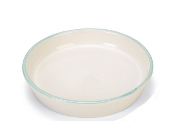 BZ Keramik Wassernapf blauer Rand ø 17.5