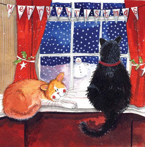 Christmas Card Window, pack of 5
