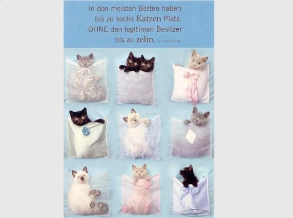 Postkarte In den meisten Betten.....