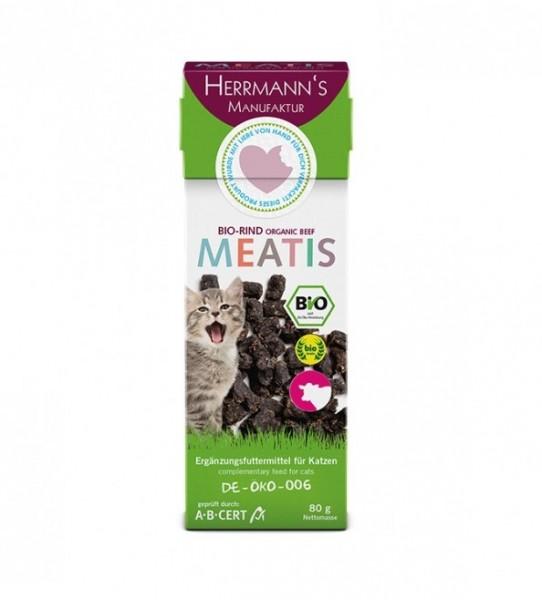 Meatis für Katzen Bio-Rind, 80 g - MHD 12.2018