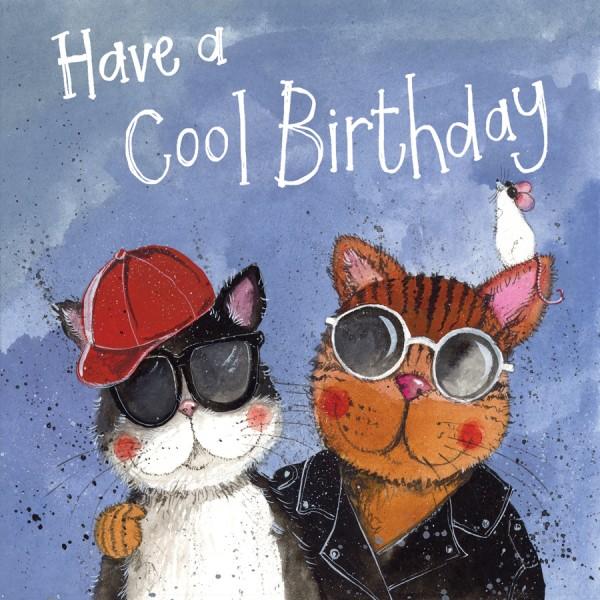 Geburtstagskarte Cool Cat