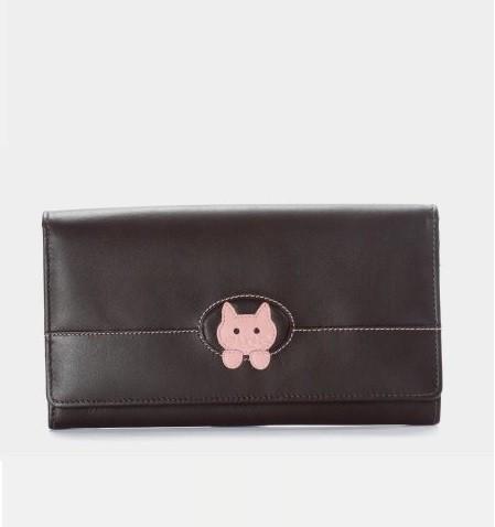 Geldbörse lang braun/rosa