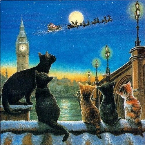 Weihnachtskarte quadr. Rooftops