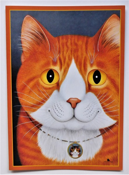 GB Blank Card Roter Kater