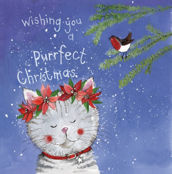 Christmas Card Ivy, pack of 5