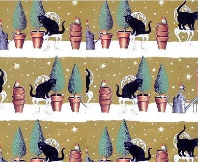 Geschenkpapier Snow Garden, 1 Bogen und 1 Geschenkanhänger