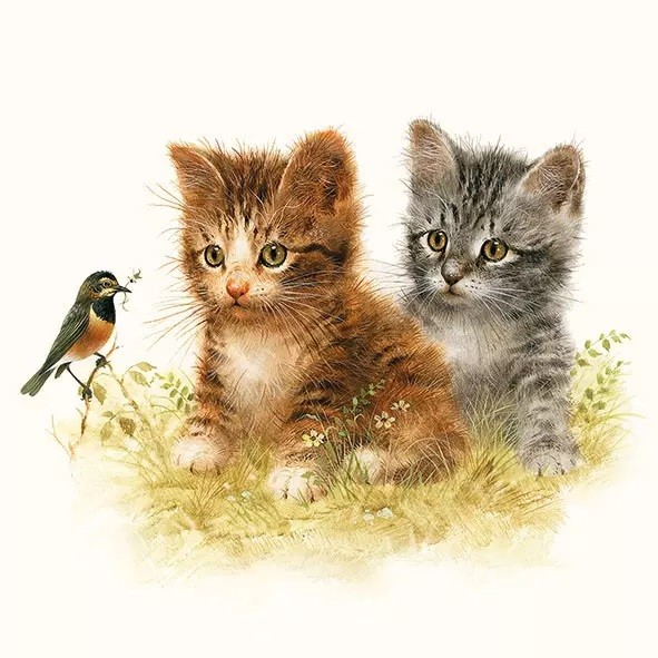 Servietten Kitten Friend