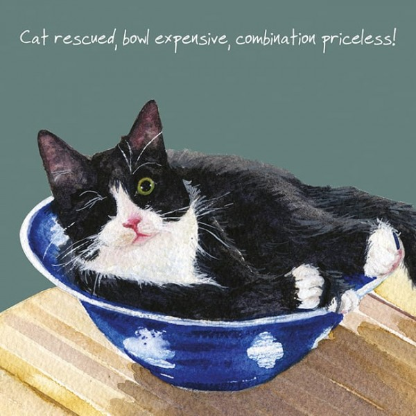 TLDL Cat Rescued Blank Card