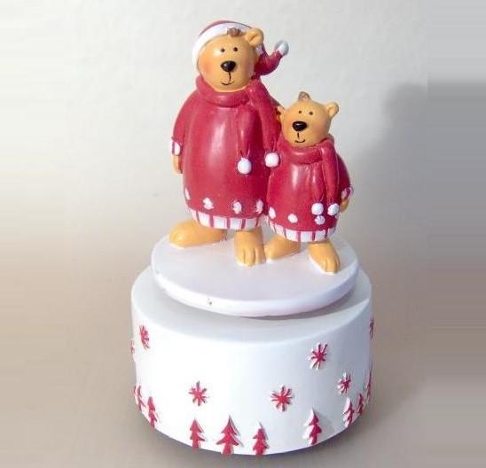 Winterliche Spieluhr Teddy